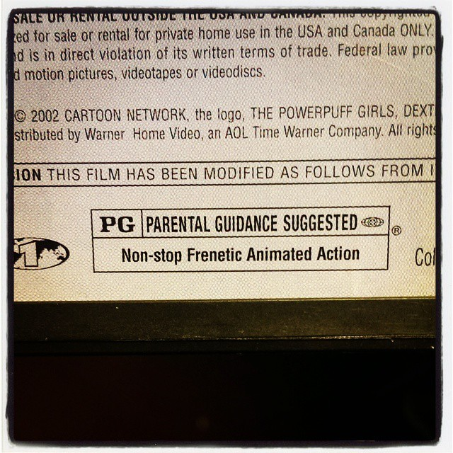 When parental advisories match the marketing campaign. #MPAA #Woo